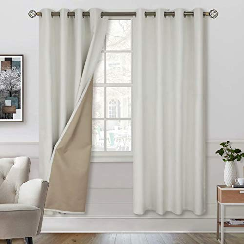 BGment 100% Blackout Curtains with Liner for...