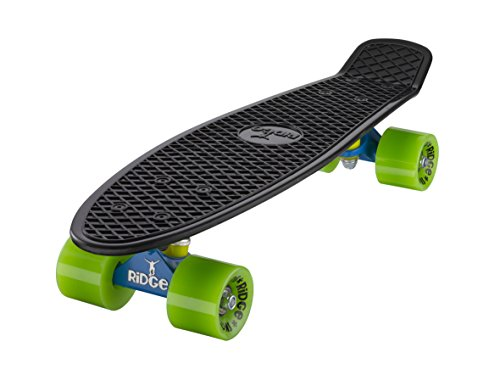 Ridge Erwachsene Skateboard 55cm Mini Cruiser Retro-Stil: Mix It Up: Lowfi, Komplett U Fertig Montiert, 56 x 15 cm