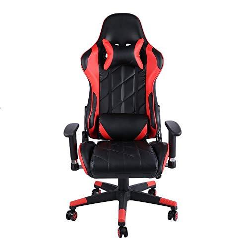 YzDnF Computer Office Chair Sedia Gaming Chair Internet Cafe Athletic Corsa Chair Anchor sede di Gioco del Gioco di Alta qualità Sedia Sedia Videogioco (Color : Red, Size