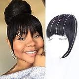 Clip in Bangs Natural Black Bangs Clip in Fringe Hair...