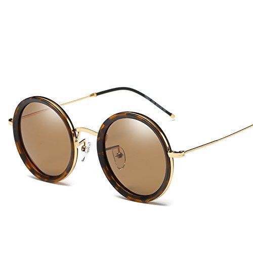 LLZTYJ zonnebril, wind/licht/auto/verjaardags/geschenk/decoratie/zonnebril/dames/polarisatie/ronde bril voor mannen/zonnebrillen/rond gezicht