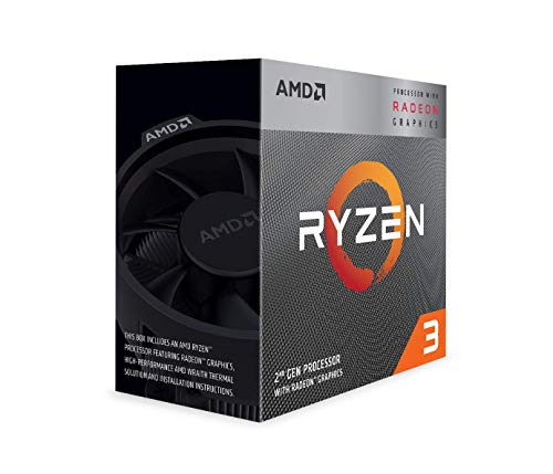 AMD Ryzen 3 3200G, Processore PC, 3,6 GHz (frequenza massima: 4,0 GHz), 4 MB L3 Cache, Socket AM4, GPU integrato Radeon Vega 8