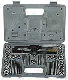 Metalworks SKC40ETM - Juego de machos y fileras con giramachos, 40 piezas