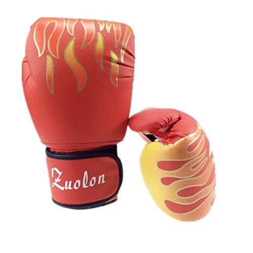 WOLIGEQ Guantes de Boxeo Guantes de Boxeo de Cuero Muay Thai PU para Mujeres Hombres Entrenamiento de Gimnasio MMA Grant Kick Boxing Gloves Equipment