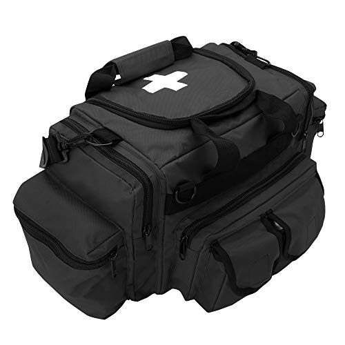 ASA Techmed First Aid Responder EMS Emergency Medical Trauma Bag Deluxe (Black)