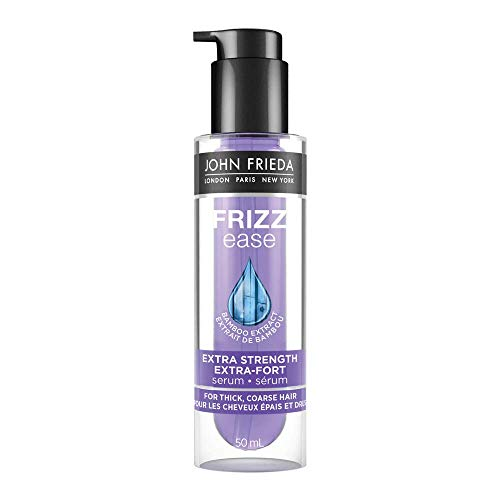John Frieda Frizz Ease Extra Strength Serum, Nourishing Treatment for Thick, Coarse Hair, featuring Bamboo Extract and provides Salon-caliber Smoothing, 50 ml