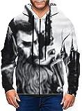 ZCQF0DEFJA Electric Wizard Dopethrone Men's 3D Digital Print Sweatshirt Full Zip Pullover Jacket,,Large