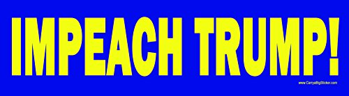 Impeach Trump Anti-Trump Magnetic Bumper Sticker