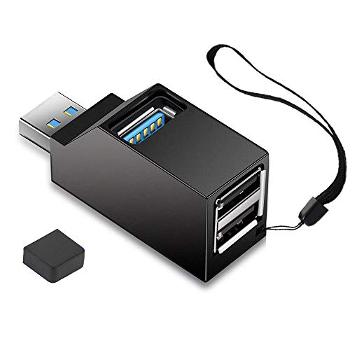 USB Hub,3 Port High Speed Splitter Plug and Play Bus Powered for MacBook, Mac Pro/Mini,iMac, Surface Pro,XPS,Notebook PC,USB Flash Drives,Mobile HDD, and More