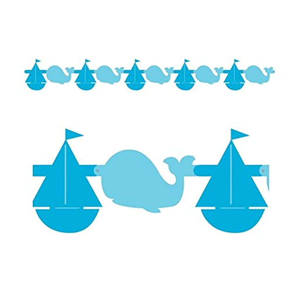 Sail Boats & Whales Felt Garland, 5 feet long