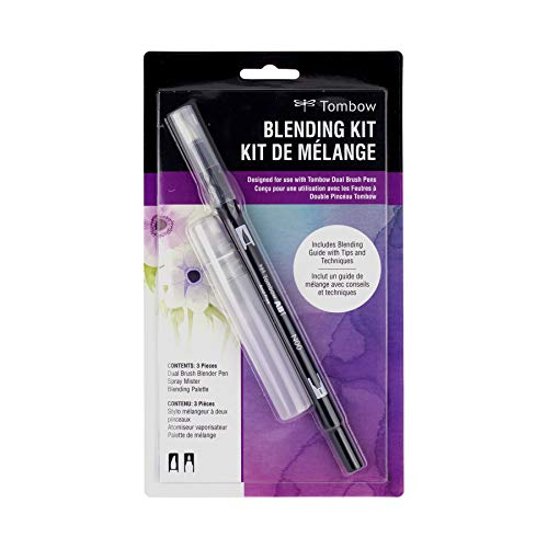Tombow Blending Kit. Includes Blending Palette, Colorless Blender, Spray Mister, and Blending Guide