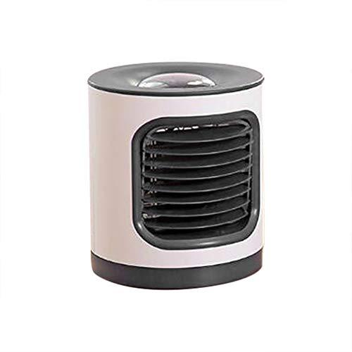 KERULA USB Mini Klimaanlage Luftreiniger Anionen Reinigungs Fan Ventilator Energiesparend Leise Hochwertig Elektrolüfter Lüfter mit Projektion Nachtlicht für Home Office Projektionslampe (L, Schwarz)