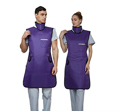 Upgrade 0.5mmpb Xray Lead Apron with Thyroid Shield Collar,Dental Lab Apron,Radiation Protection - Lightweight