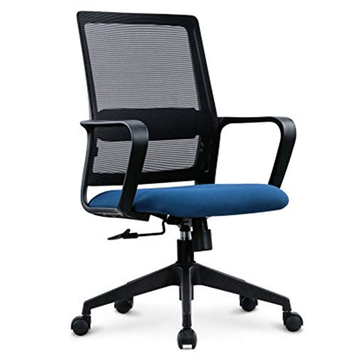 Lpinvin Trainingsstuhl Büro-Trainingsstuhl Mesh Chair Air Mesh Stoff Stoff Training Verhandlungsstuhl Rückenlehne Trainingsstuhl Tragbarer Trainingsstuhl (Farbe : Rotating Blue, Size : One Size)