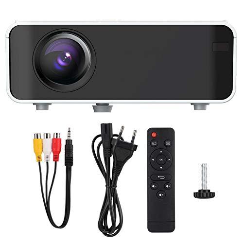 FOLOSAFENAR Imágenes de reflexión difusa LED 1080P Reproductor Multimedia para el hogar Proyector para el hogar Proyector(European regulations)