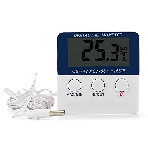 Sunneey Digitale koelkastthermometer, waterdichte koelkast, met vriesvak, thermometer, goed leesbaar, perfect voor binnen en buiten, thuis, restaurants, bars/cafés