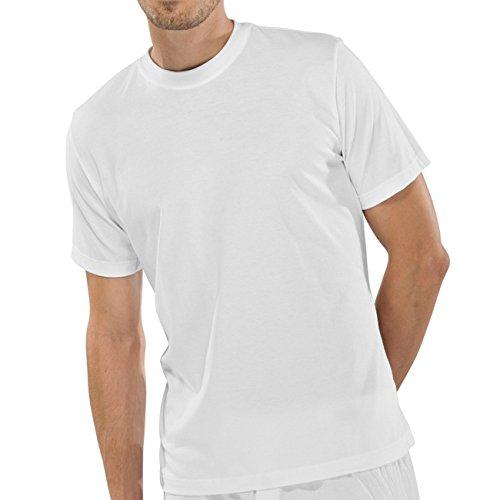 Schiesser Herren Rundhals T-Shirt Americans-T-Shirt 4er Pack, Farbe:Weiß (100);Größe:6/L