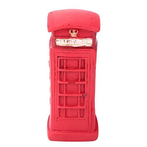 HEEPDD Telefooncel bureau decoratie, creatieve Britse retro telefooncel brievenbus decoratie tafel hars Home Office woonkamer bureau decoratie