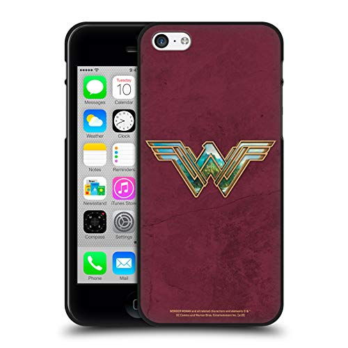 Head Case Designs Ufficiale Wonder Woman Movie Themiscyra Logo Cover Nera in Morbido Gel Compatibile con Apple iPhone 5 / iPhone 5s / iPhone SE 2016