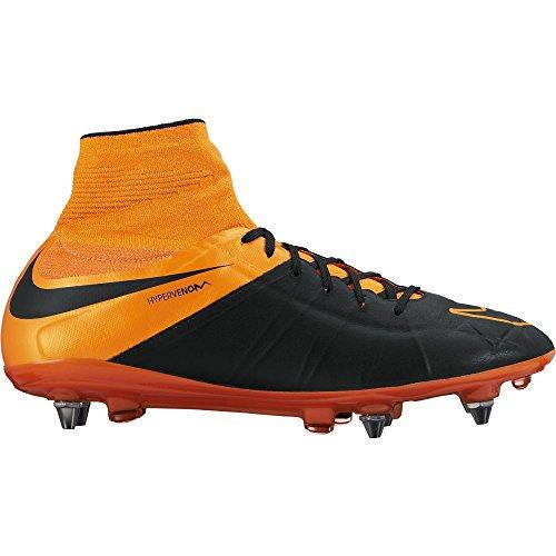 Hypervenom Phantm 2 Lthr SGPro fútbol para hombre-zapatos 747500-008_9 - Negro / total de la naranj