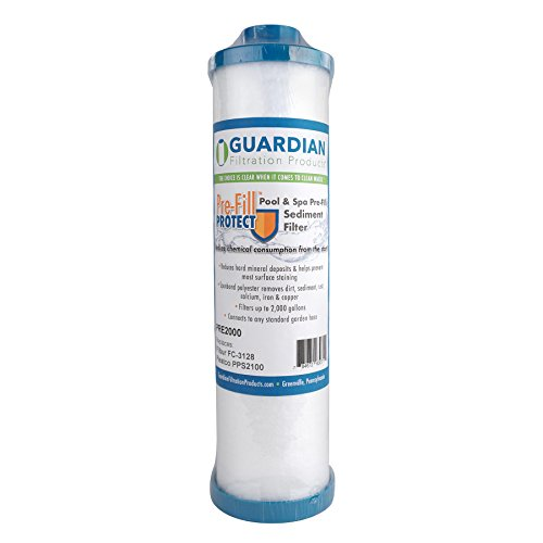 Guardian Pre Fill Protect - Garden Hose Pre Filter - Fill hot tubs spas Pools Aquariums Ponds - Replaces Filbur FC-3128 Pleatco PPS2100