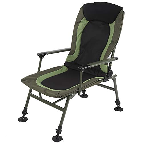 Silla de camping Silla de pesca portátil Silla de pesca plegable silla de carpa con reposabrazos para camping al aire libre