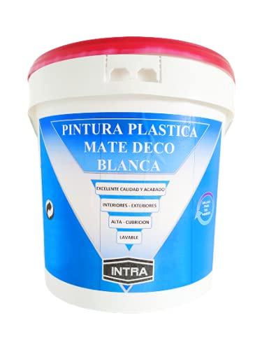 PINTURA BLANCA MATE - INTERIOR- EXTERIOR- 6,75 KG-Alta Cubrición-Lavable-Gran Rendimiento 8-12 m2 Lt Acabado Liso Mate