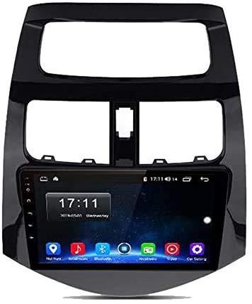 GPS Navigation Head Unit Sat Nav Auto Audio Player MP5 FM Radio Receptor Coche Estéreo Stereo 9 Pulgadas Pantalla Táctil Android 9.0 Compatible para Chevrolet Spark 2010-2014,8 Core 4G+WiFi 2+32GB