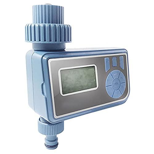 URJEKQ Programador Riego Automatico Temporizador Riego Digital de Agua con Sensor de Lluvia Pantalla LCD Bajo Consumo Función de Memora Ideal para Regar Flores y Césped,Azul,4 Points