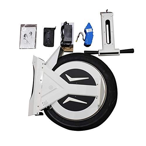 GJZhuan Électrique Monocycle, 17' 60V / 500W, Scooter Électrique, avec Haut-Parleur Bluetooth 90 Km, E-Scooter, Gyroroue Unisexe Adulte, Blanc (Size : 90KM)