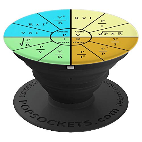 Ohm's Law Formula Wheel - Electrical Electronics Engineer PopSockets Grip and Stand for Phones and Tablets