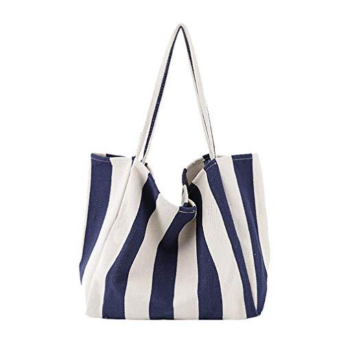 FAIRYSAN solides de haute qualité à rayures Panier de Shopping/plage tressé à Simplism et élégant sac bandoulière paille
