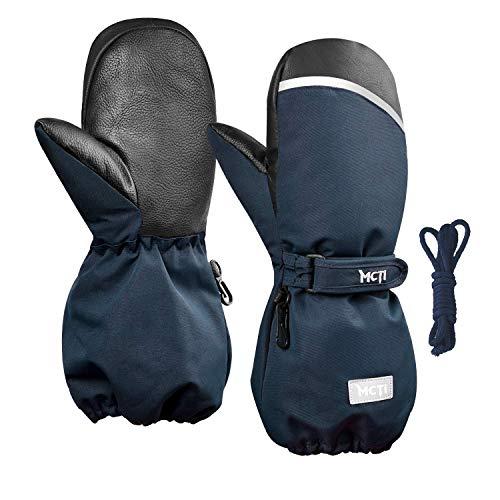 Kineed Fäustlinge Kinderhandschuhe Wasserdicht Handschuhe Kleinkind Snowboard Skihandschuhe 1-15 Jahre Kleinkinder Jungen Mädchen, Blau, XXXS (Herstellergröße: 2)