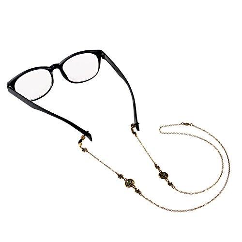Pixnor Occhiali da sole classici bronzo titolare occhiali cinghia titolare catena