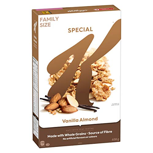Kellogg's Special K Vanilla Almond, Family Pack, Cereal 658g/23oz.(Imported from Canada)