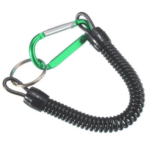 Portachiavi moschettone laccio estensibile+corda laccio per chiave block shaft VERDE