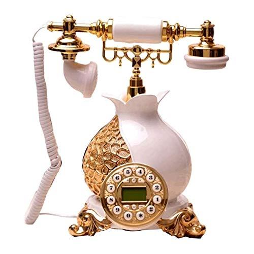 Teléfono creativo decorativo retro Teléfono antiguo de moda retro europeo Teléfono Antiguo Teléfono Antiguo Para Oficina Inicio Botón Botón Teléfono Aireado Línea Oficina Regalos / Decoraciones / Cole