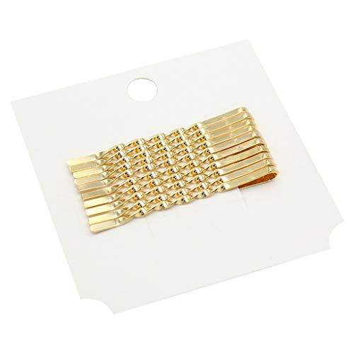 Niumanery 12Pcs/Set Minimalist Metal Alloy Gold Bobby Pins Women Girls Styling Hairpin Glitter Twist Spiral Clip Barrette Hair Accessories