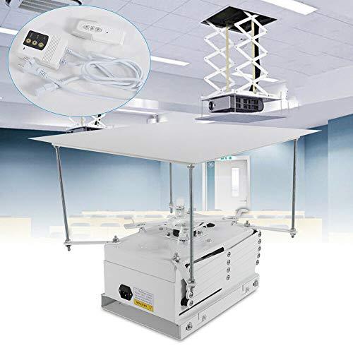 OUKANING - Soporte de techo eléctrico para proyector de 100 cm de elevación y proyector para el salón de la iglesia de cine
