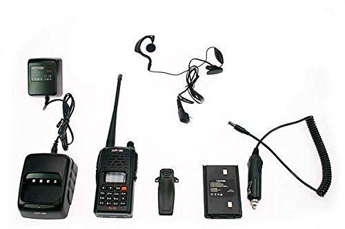 Luthor TL-11 Kit-1 Walkies Talkie Mono Banda VHF 144 MHz (con Pinganillo y Cargador de Coche)