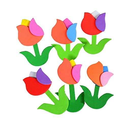 4 PICS Beautiful Flowers Tulip Motif Décoration Classroom Nursery