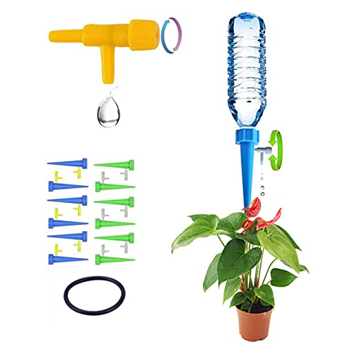 NNDM 12 Plant Watering Devices, Adjustable Plant Water Dispenser, Plant Water Bottle, Indoor and Outdoor Water Tankfor Potted Plantsof Flowers and Vegetables