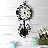 FirsTime & Co. Harwick Pendulum Wall Clock, American Crafted, Black, 9.1 x 2.36 x 20, (40224)