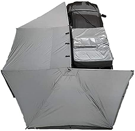 Overland Vehicle Systems Nomadic Awning 270 - Dark Gray with Black Travel Cover - Driverside