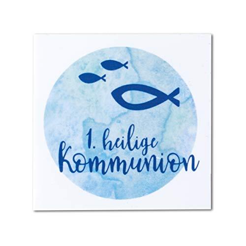 Rayher 31631356 Wachsmotiv Watercolor- Heilige Kommunion, hellblau, 6,7 x 6,7 cm, 1 Stück, zum Gestalten von Kerzen für die Kommunionsfeier