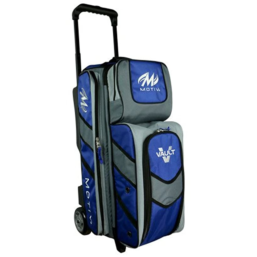 Motiv Vault 3 Ball Roller Bowling Bag Black/Grey/Blue