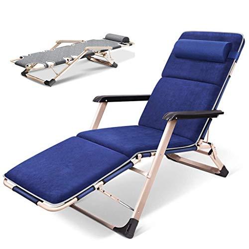 Unknow Fauteuils inclinables Sun Loungers - Fauteuil inclinable Pliant pour l'extérieur, Chaise Zero Gravity avec Coussin de tête - Fabriqué à partir d'un Cadre en Acier pour Piscine de j