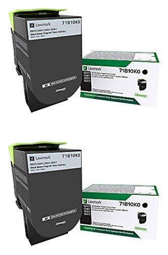 Lexmark 71B10K0 Black Toner Cartridge 2-Pack for CS317, CS417, CS517, CX317, CX417, CX517