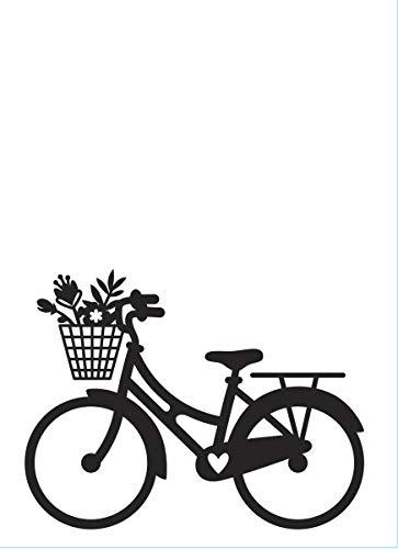 Darice Cartella per Goffratura A6, Mascherina Bicicletta, Transparent