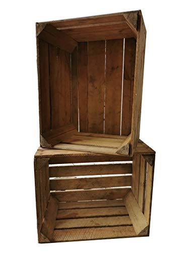 Oude en gebruikte fruitkisten 50 x 40 x 30 cm in vele variaties - ideaal voor meubelbouw of opslag - zeer massief en stabiel verwerkt - als schoen-, boeken- of archiefkast